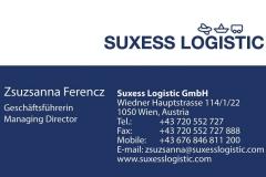 Suxess Logistic névjegykártya