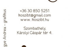 Montázs Műhely névjegykártya