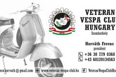 Vespa Club névjegykártya