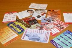 kártyanaptárak tervezése, készítése