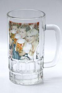 egyedi söröskorsó, fényképes söröskorsó, víztiszta söröskorsó, söröskorsó saját fotóval, söröskorsó Szombathely, söröskorsó Montázs Műhely